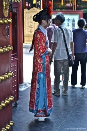Hostess do Restaurante em Beihai Park